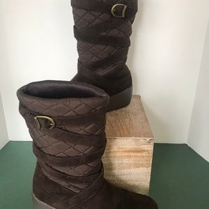 So Soreal Soright Rain and Snow Brown Boots